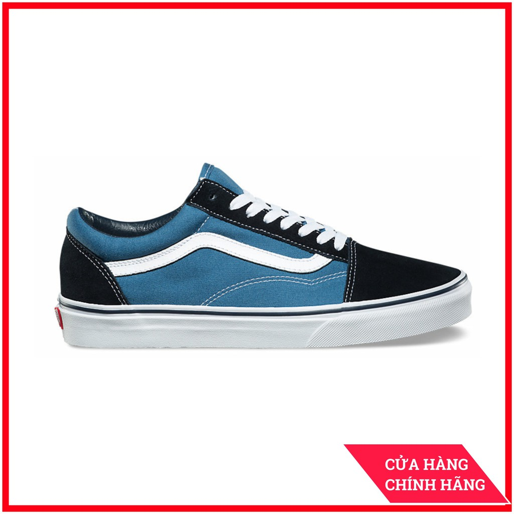 Giày Sneaker [REAL] Vans-Old-Skool-Navy-VN000D3HNVY
