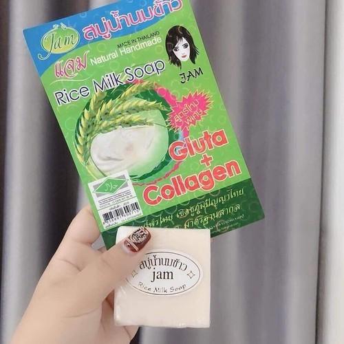 Xà phòng cám gạo Jam Rice Milk Soap Thái Lan 75g