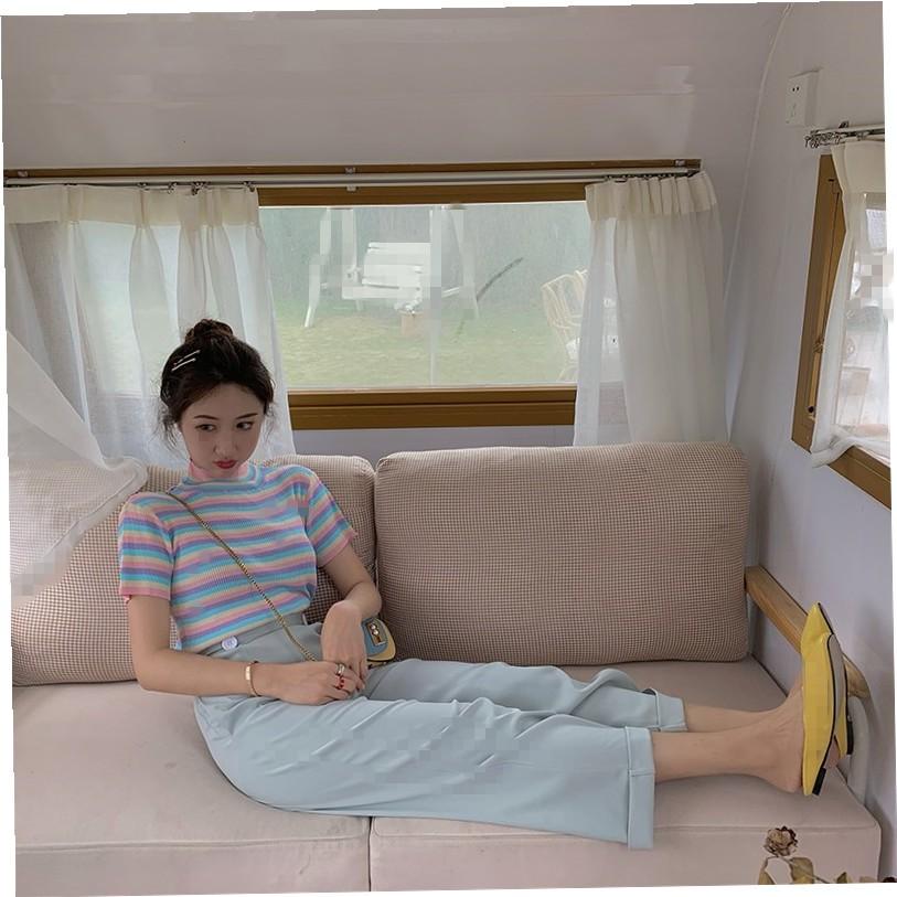 áo thun len ngắn tay họa tiết sọc ngang thời trang dành cho nữ - 14910605 , 2594835663 , 322_2594835663 , 248300 , ao-thun-len-ngan-tay-hoa-tiet-soc-ngang-thoi-trang-danh-cho-nu-322_2594835663 , shopee.vn , áo thun len ngắn tay họa tiết sọc ngang thời trang dành cho nữ