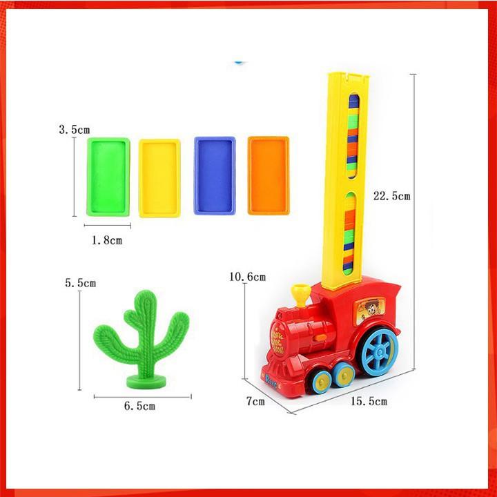 [CỰC ĐẸP] Bộ đồ chơi tàu hỏa Domino giúp bé rèn luyện sự khéo léo và tính kiên nhẫn [SỈ...