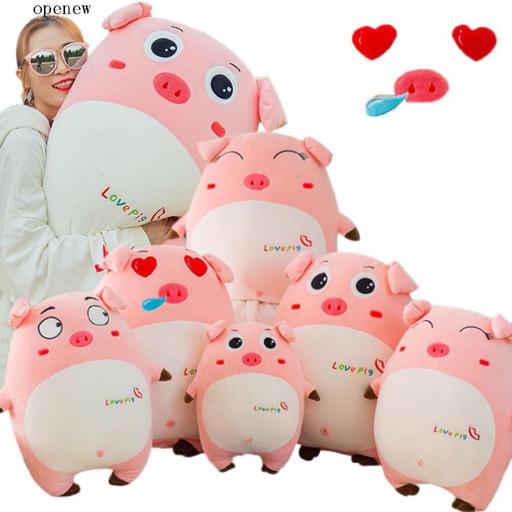 op New Women Baby Girls Small Cartoon Pig Plush Cute Pillow Doll Toys