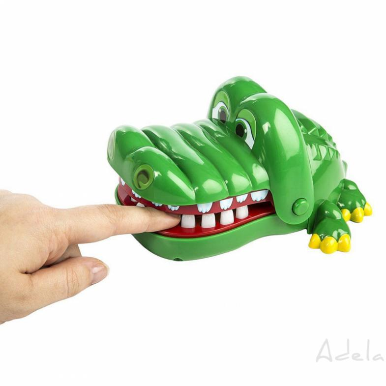 adela Funny Crocodile Big Mouth Bite Finger Toy Family Game For Kids Boy Gifts