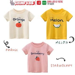 Áo thun cho bé gái 27Home in hình trái cây siêu cute chất liệu cotton an toàn cho bé hàng chuẩn xuất Âu Mỹ