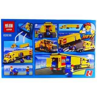 Bộ Lego xếp hình Ninjago City Super Xe Container Vàng. Gồm 298 chi tiết. Lego Ninjago Lắp Ráp Đồ Chơi Cho Bé.