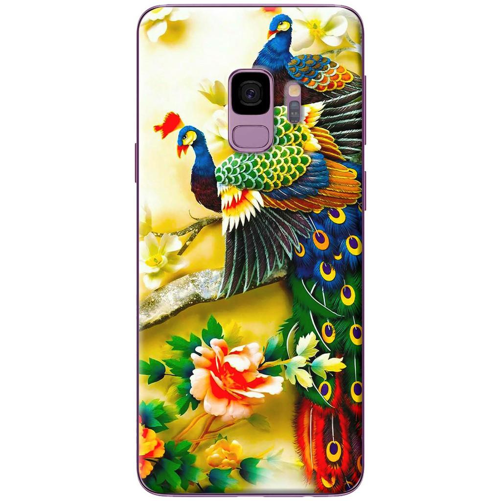 Ốp lưng nhựa dẻo Samsung S9, S9 Plus Chim công 3