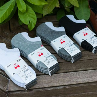 Hài Uniqlo Cổ Ngắn Đi Giày Lười Giày Sneaker Hàng Xuất Khẩu Chất Len Dày Dặn Hàng Cao Cấp
