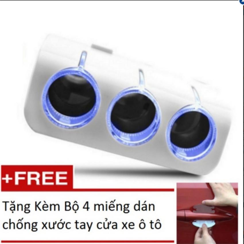 Bộ chia 3 tẩu và 2 cổng USB cho ô tô (Trắng)+ Bộ 4 miếng dán chống xước - 9933831 , 535641707 , 322_535641707 , 223000 , Bo-chia-3-tau-va-2-cong-USB-cho-o-to-Trang-Bo-4-mieng-dan-chong-xuoc-322_535641707 , shopee.vn , Bộ chia 3 tẩu và 2 cổng USB cho ô tô (Trắng)+ Bộ 4 miếng dán chống xước