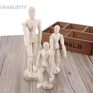 charlotty✡ Handmade Wooden Movable Limbs Human Figure Model Artist Sketch Draw Models