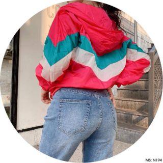 Áo khoác dù ngoại phối nhiều màu kiểu cánh dơi