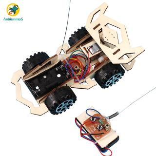 Children Electric Wood Vehicle Assembly Kits Educational Science Technology Kits