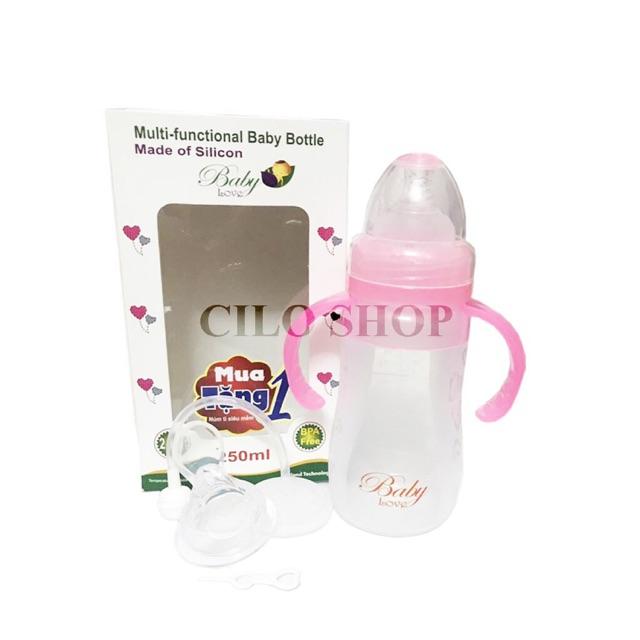 Bình sữa siêu mềm BabyLove 250ml + Tặng 1 núm ti và 1 núm thìa - 3044192 , 966619038 , 322_966619038 , 125000 , Binh-sua-sieu-mem-BabyLove-250ml-Tang-1-num-ti-va-1-num-thia-322_966619038 , shopee.vn , Bình sữa siêu mềm BabyLove 250ml + Tặng 1 núm ti và 1 núm thìa