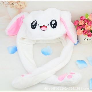 Mũ thỏ bông tai giật