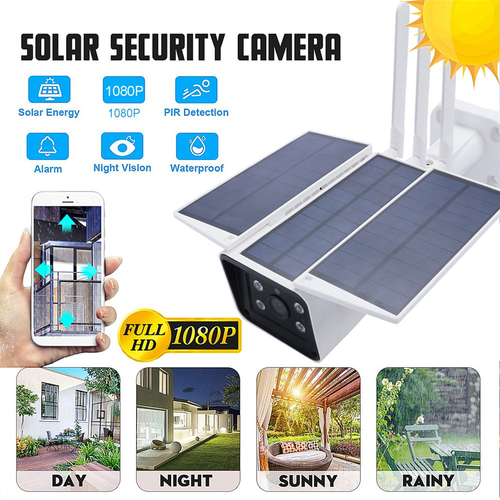 PUR 4G Low Power Solar Wireless Surveillance Camera IP67 Waterproof 1080P HD IR Outdoor IP Camera