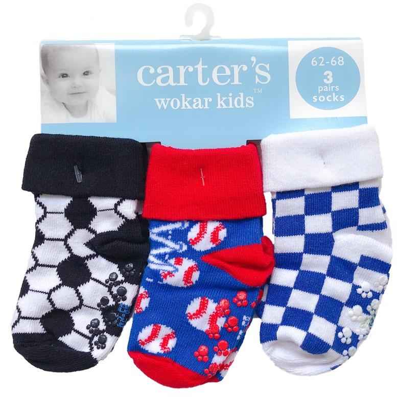 Bộ 3 cặp vớ Sanlutoz bằng cotton mềm mại phong cách thể thao cho bé trai