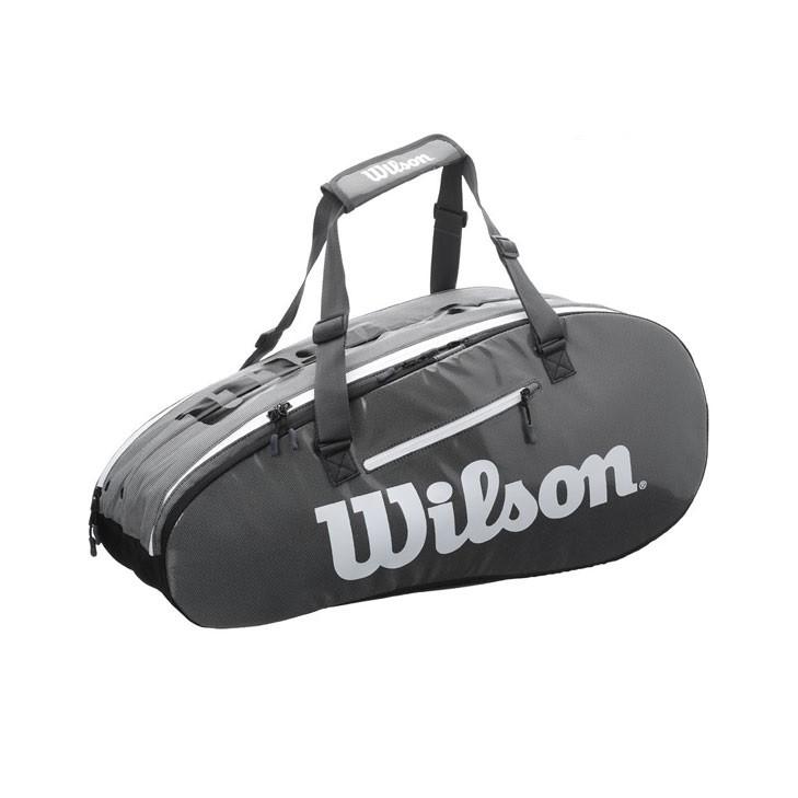 Túi đựng vợt tennis Wilson Super Tour 2 Black 9 Pack