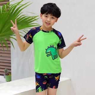 Đồ bơi trẻ em bé trai cao cấp SS0020 SESAN SPORT, bộ gồm áo quần và mũ bơi