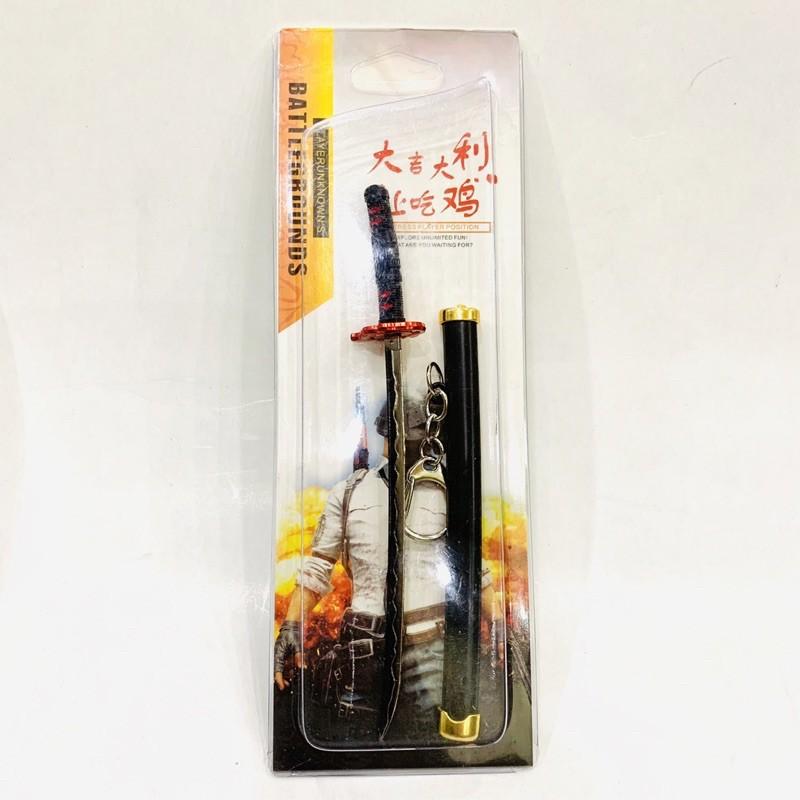 Mô hình Móc khóa hình kiếm nhật katana trong anime Kimetsu No Yaiba