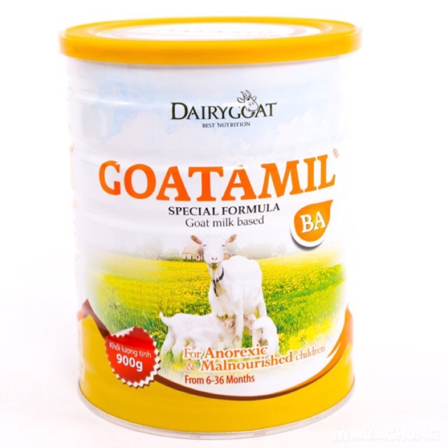 Sữa dê Goatamil BA cho trẻ biếng loại 400g/ 900g