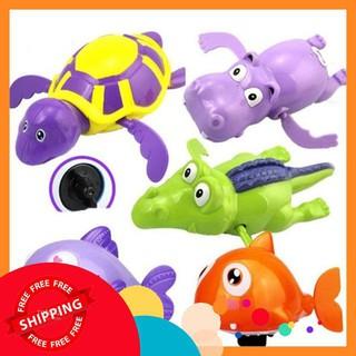 Bộ 6 con thú đồ chơi bồn tắm thú biết bơi cho bé T1052 – Loại to