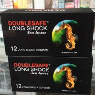 Bao cao su cá ngựa Doublesafe long shock hộp 12 cái giúp kéo dài quan hệ thumbnail