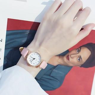 Đồng hồ thời trang nữ dây da AKS05 mặt số dể dàng xem giờ