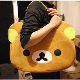 ☛☏❤Anime San-X Rilakkuma Cute Big Bag Handbag shoulder Bag plush relax brown bear