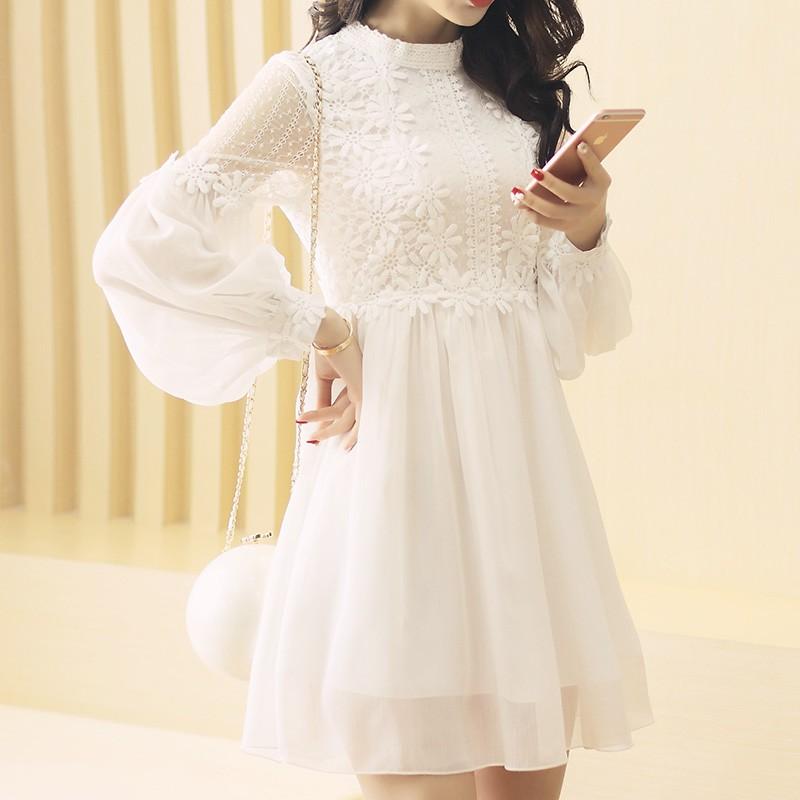 order váy trắng