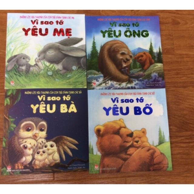 Sách Bộ sách vì sao tớ yêu ông bà bố mẹ ( trọn bộ 4 quyển)
