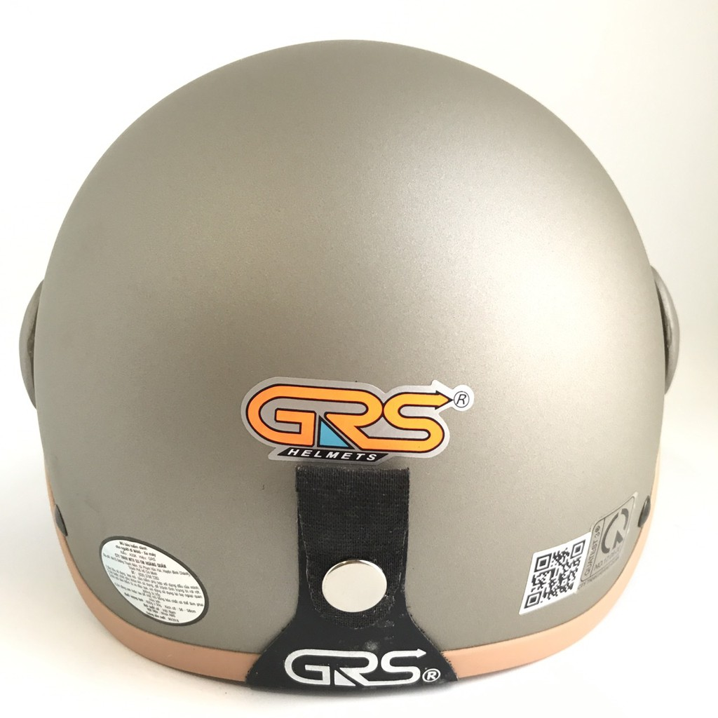 Mũ bảo hiểm nửa đầu có kính - Dành cho người lớn vòng đầu 56-58cm - GRS A33K - Xám nhám - Nón bảo hiểm Nam - Bảo hiểm Nữ