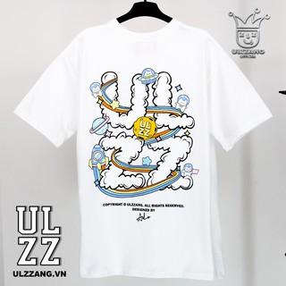 Hình ảnh Áo thun ULZZ ulzzang cloud astronaut - white fullbox-2