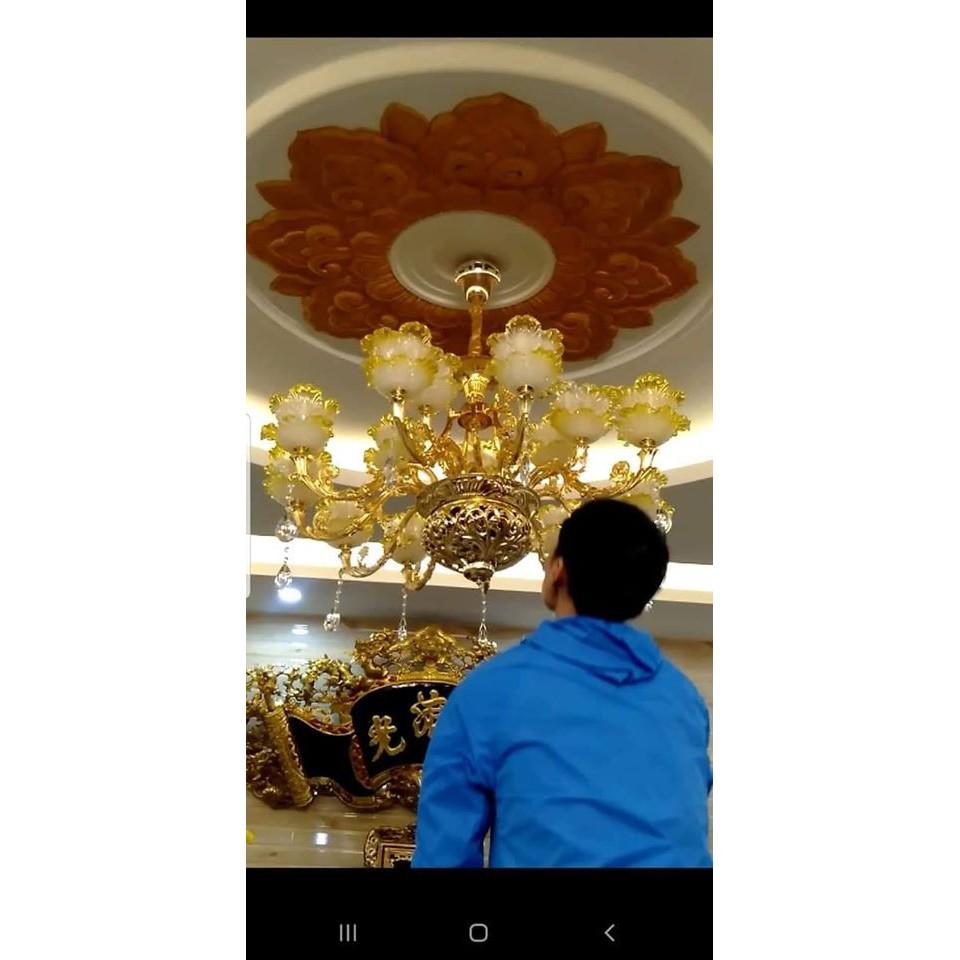 Đèn Chùm Pha Lê 15 tay  KIMNGAN-6820  Phong Cách Châu Âu Hiện Đại Phù Hợp Trang Trí Phòng Khách, Nhà Hàng, Hội Trường...