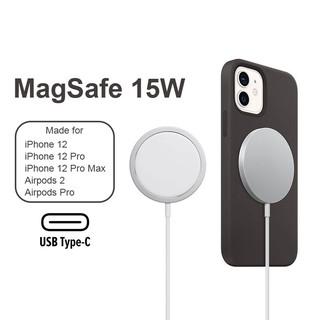 Sạc không dây MagSafe 15W từ tính căn chỉnh tự động cho iPhone 12, 12 Pro, 12 Pro Max
