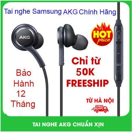 Tai Nghe AKG Samsung S8 S9 Chính hãng 100% - Bảo hành 6 tháng