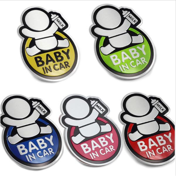 Logo Baby In Car dán xe ôtô (cầm bình sữa)