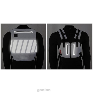 Adult Safety With Reflective Stripes Outdoor Sports Cycling Protective Gear Men Vest