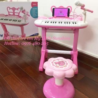 ĐÀN PIANO CÓ MICRO CHO BÉ M02 (pink)