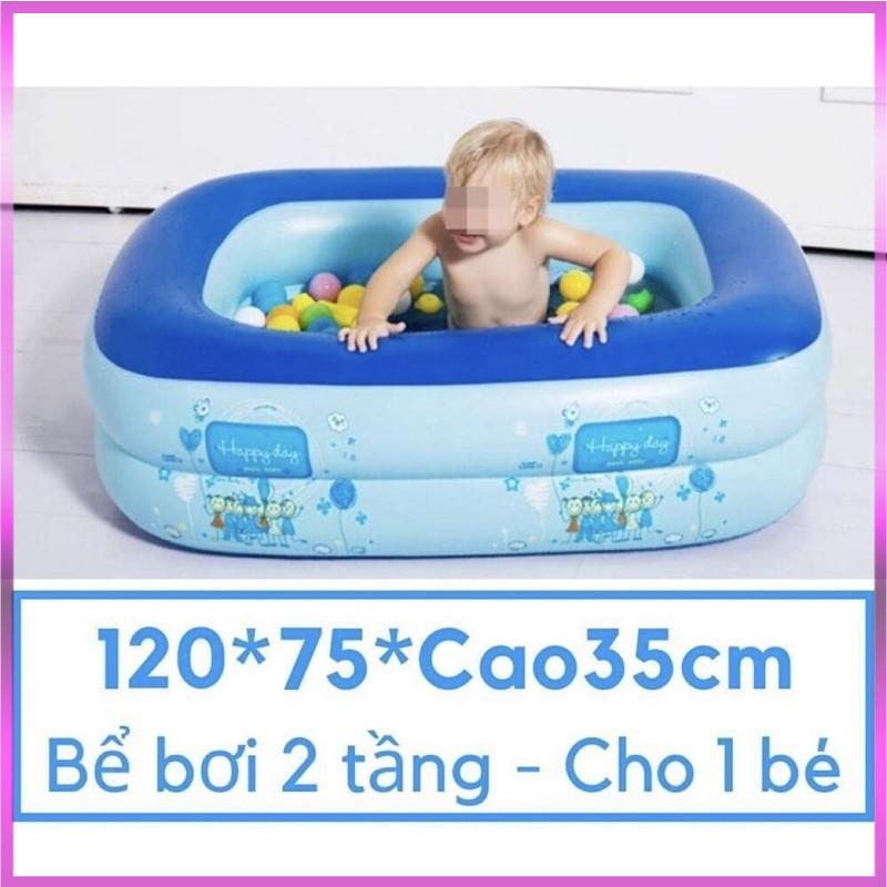 Phao Bơi, Bể Bơi Cho Bé /hồ Bơi Bơm Hơi 2 Tầng 120cm Cho Bé – RAY SPORTS