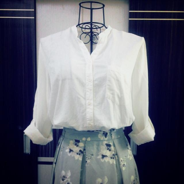 Áo sơmi trắng linen 2hand