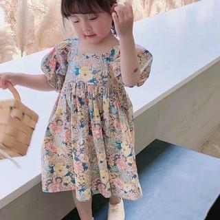 Váy hoa nhí cho bé gái - Váy hoa nhí đan choé lưng màu siêu sang chảnh cho các bé