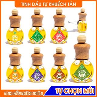 Tinh dầu AROMA tự khuếch tán thơm phòng, chai tròn dẹp có kẹp treo, nhiều mùi tự chọn 8ml thumbnail