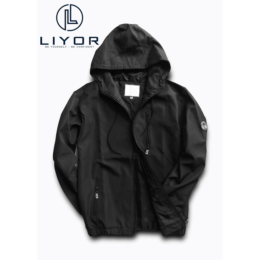 Áo khoác nam (FREESHIP 50K) áo gió vải dù cao cấp 2 lớp dây kéo kết hợp logo ngay tay áo độc đáo - Liyor - AK15