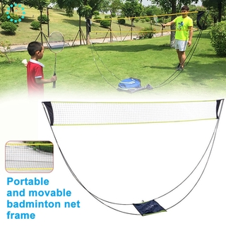 【cfh】Badminton Net Beach Sports with Stand Mesh Tennis Exercise Kids Adult Accessories Indoor Outdoor Removable Portable Competition