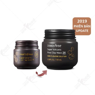 Mặt Nạ Đất Sét Innisfree Super Volcanic Pore Clay Mask 2X (100ml)