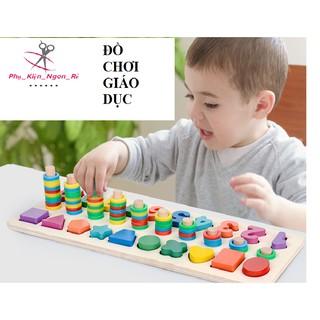 [FREE SHIP] Bộ đồ chơi với cột tính và ghép số giúp bé yêu thông minh hơn