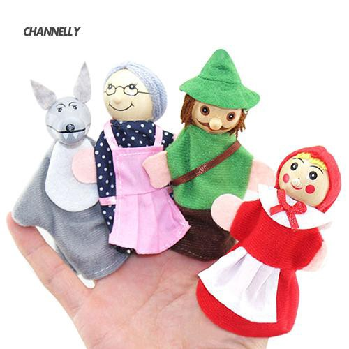 ■Cy Red Riding Hood and Wolf Fairy Story Play Game Finger Puppets Toys Set