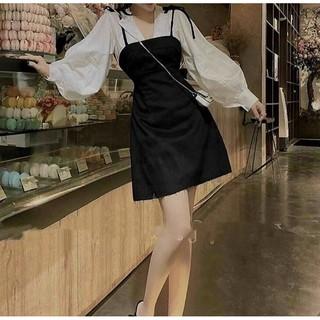 set yếm trắng đen có sẵn vải siêu xịn