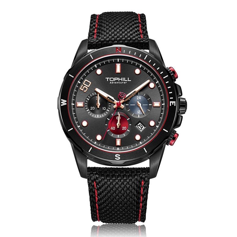 Đồng hồ nam chính hãng TOPHILL TL023G.PB5152 - Dây da - kính Saphire