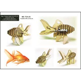 Cá chép – Mô hình lắp ráp gỗ 3D