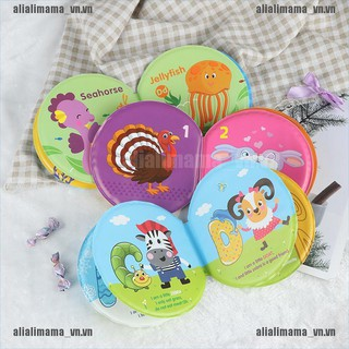 alimama.vn # Waterproof Cloth Book pinch will make sound Early Learning Baby Bath Toy