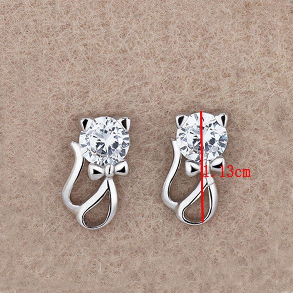 Đôi bông tai hình mèo đính đá dễ thương cho nữ - 14509717 , 2363275560 , 322_2363275560 , 28400 , Doi-bong-tai-hinh-meo-dinh-da-de-thuong-cho-nu-322_2363275560 , shopee.vn , Đôi bông tai hình mèo đính đá dễ thương cho nữ